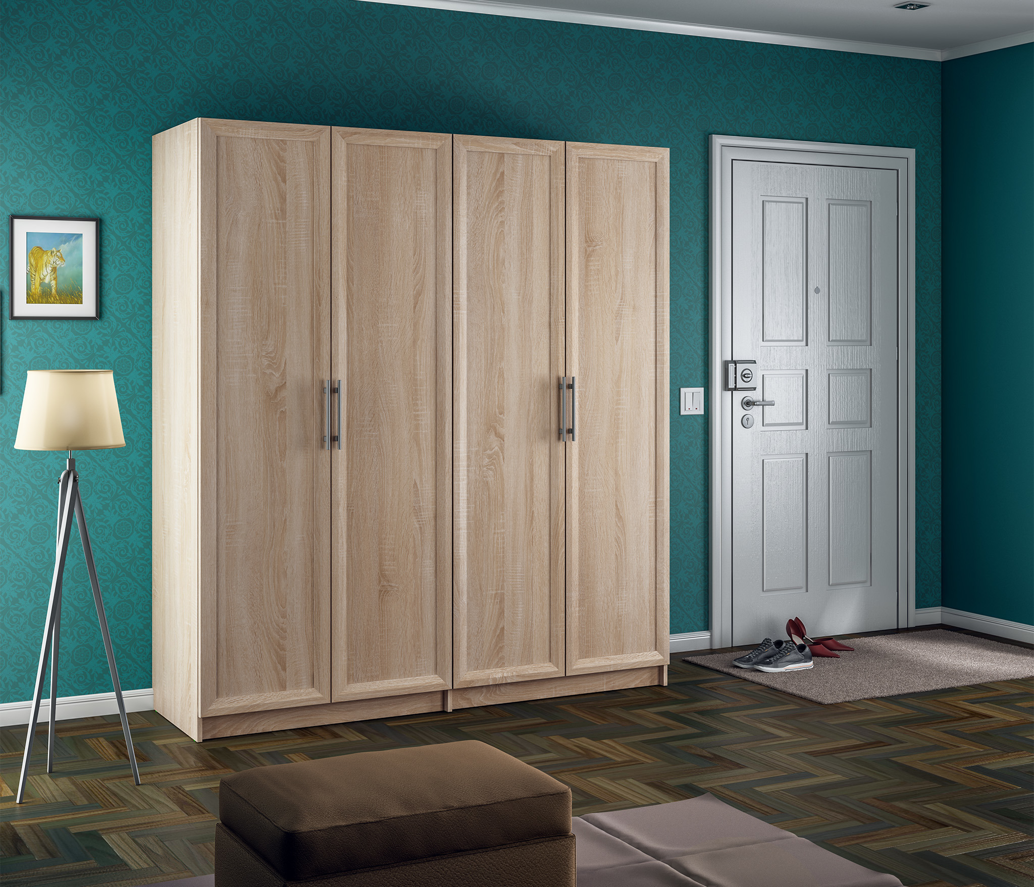 Мамбо СБ-2856 Шкаф 4-х дверный