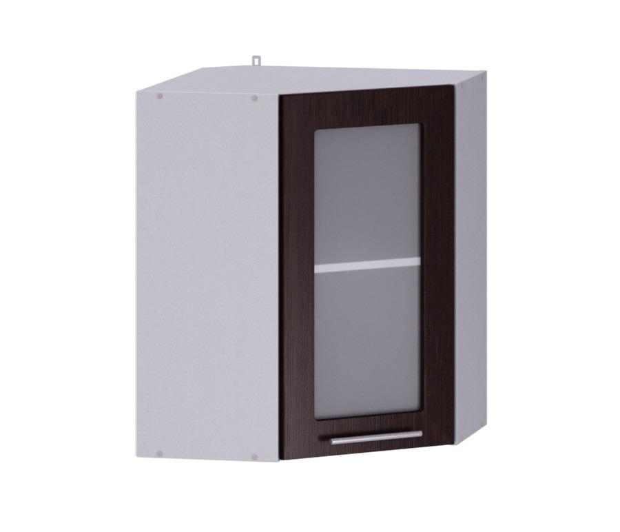 Анна АПУ-60 полка угловая с витринойМебель для кухни<br>Угловая полка с витриной сделает вашу кухню Анна не только функциональной, но и очень элегантной.<br><br>Длина мм: 583<br>Высота мм: 720<br>Глубина мм: 583