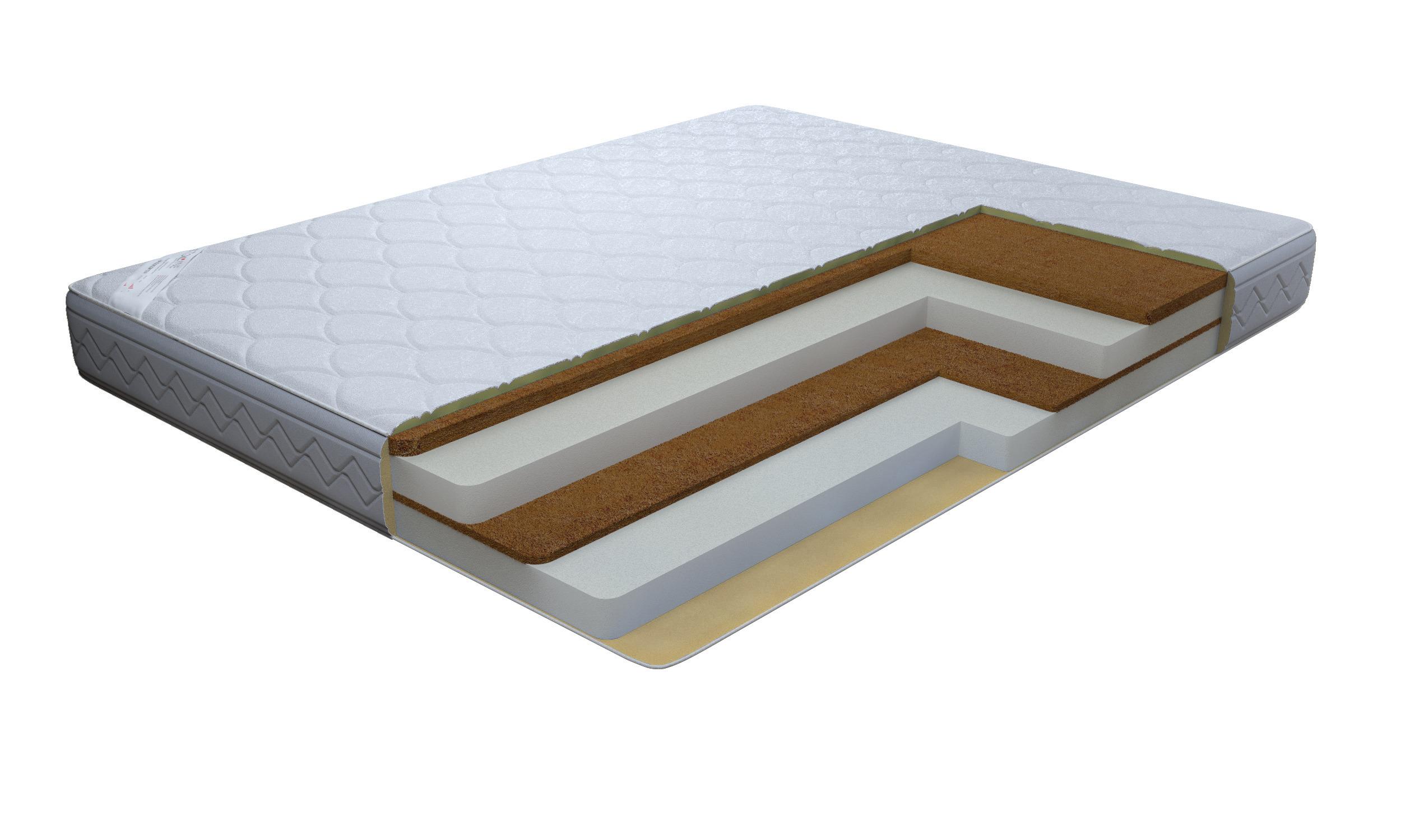 Матрас Премиум-Аванта 800*2000Мебель для спальни<br>Две стороны жесткости обеспечат комфортный сон. Огнеупорный жакард, очень приятен на ощупь и обладает гипоалергенным свойствами и при этом не поддерживает горение. Рекомендовано использование вместе с защитным чехлом Aquastop.Подходит для кроватей с подъемным механизмом. &#13;Высота: 22 &#13;Основа: беспружинный &#13;Чехол: Огнеупорный жаккард, стеганный на 15 мм ППУ &#13;Наполнитель: Латексированные листы кокосовой койры 30 и 10 мм, 2 листа ППУ 750 мм &#13;Нагрузка: 120<br><br>Длина мм: 800<br>Высота мм: 220<br>Глубина мм: 2000<br>Длина матраса: 2000<br>Ширина матраса: 800<br>Высота матраса: 220<br>Тип матраса: беспружинный