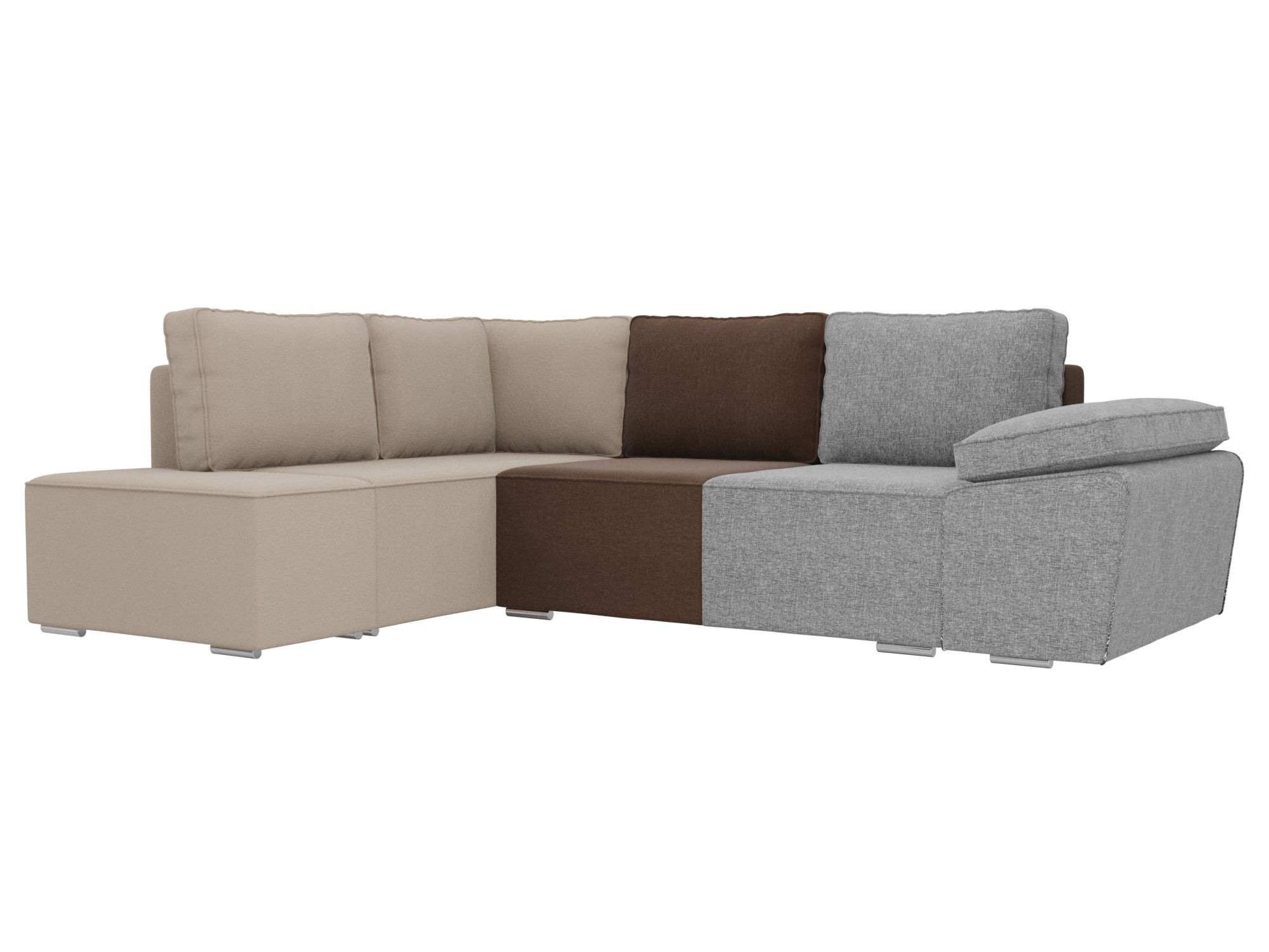 Угловой диван Хавьер, рогожка,левый угол