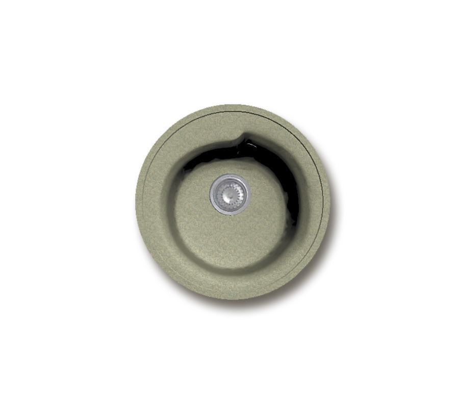GRANFEST Мойка GF-R450 (бежевый) Столплит