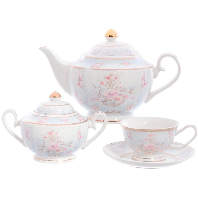 Сервиз чайный фарфоровый на 6 персон Royal Classics 14 предметов сервиз чайный из фарфора 12 предметов лаура 84 670