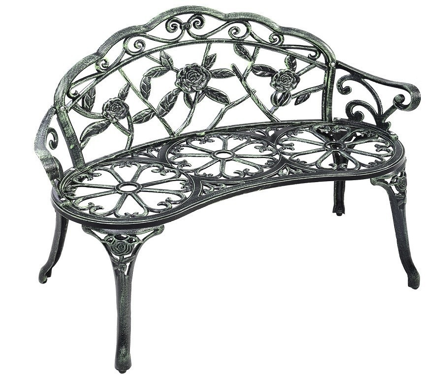 Скамейка OP2780Дачная мебель<br><br><br>Длина мм: 950<br>Высота мм: 800<br>Глубина мм: 540<br>Цвет: Античный зеленый