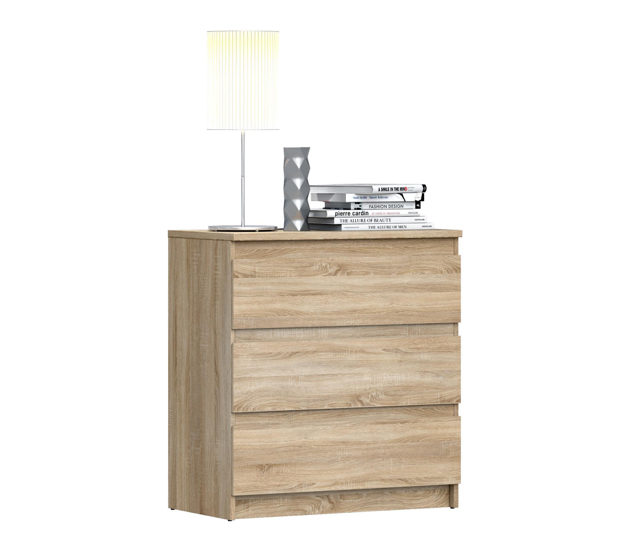 Кито СБ-2347 КомодКомоды<br>Комод  Кито  имеет 3 ящика для хранения вещей и предметов любого назначения. Он представляет собой удобный и практичный предмет мебели, используемый для хранения вещей, различных аксессуаров и принадлежностей для дома. Черты этой модели: элегантность и простота.<br><br>Длина мм: 800<br>Высота мм: 862<br>Глубина мм: 446