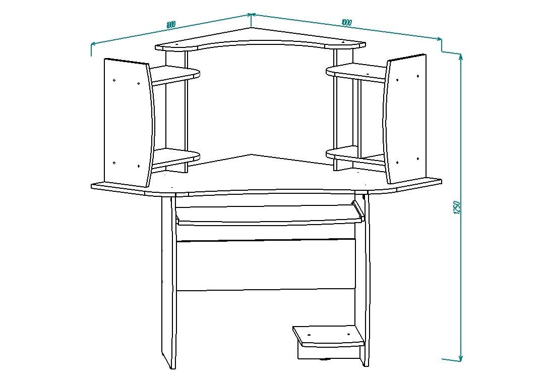 Стол компьютерный СК-4 угловой от Столплит