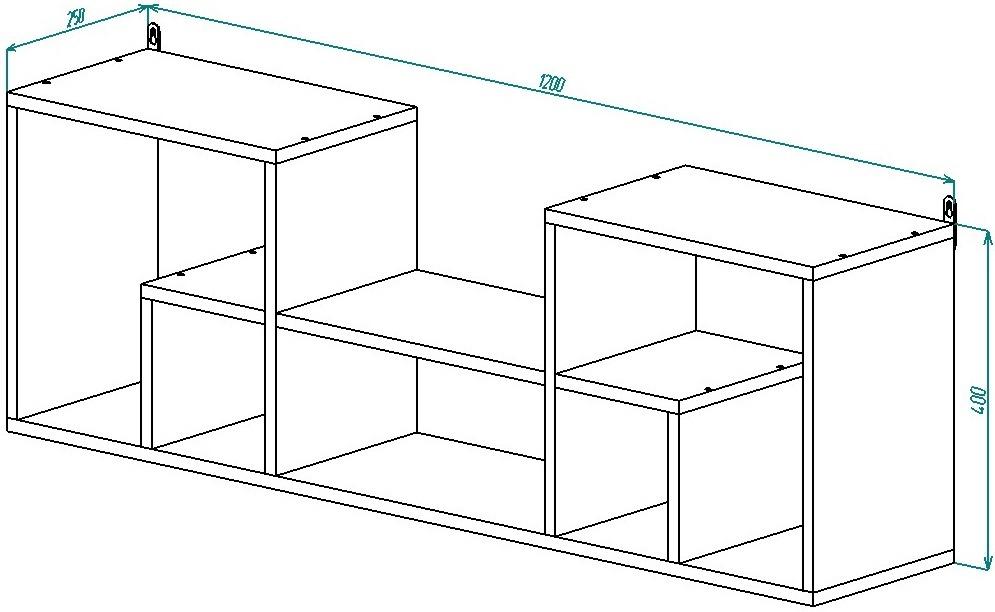 Полка навесная П-4 География от Столплит