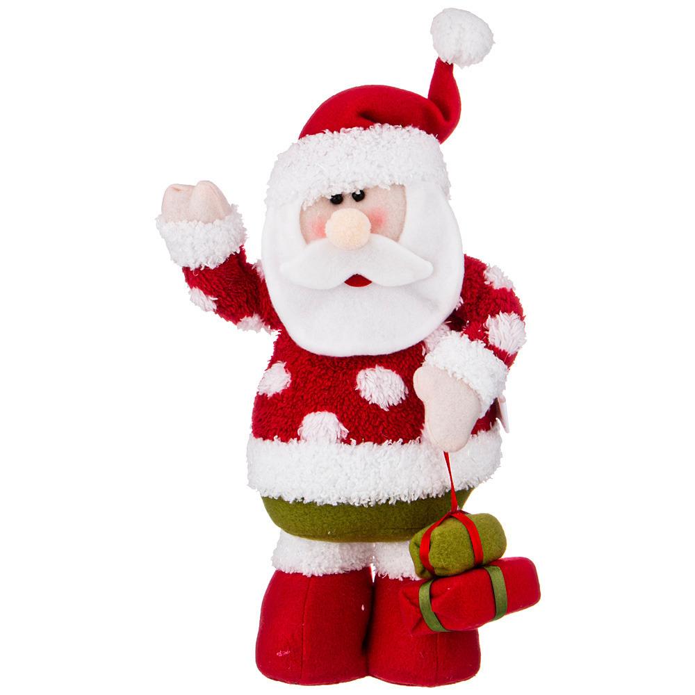 Фото - Фигурка Дед мороз с подарками фигурка дед мороз m97 дед мороз пластик текстиль красный