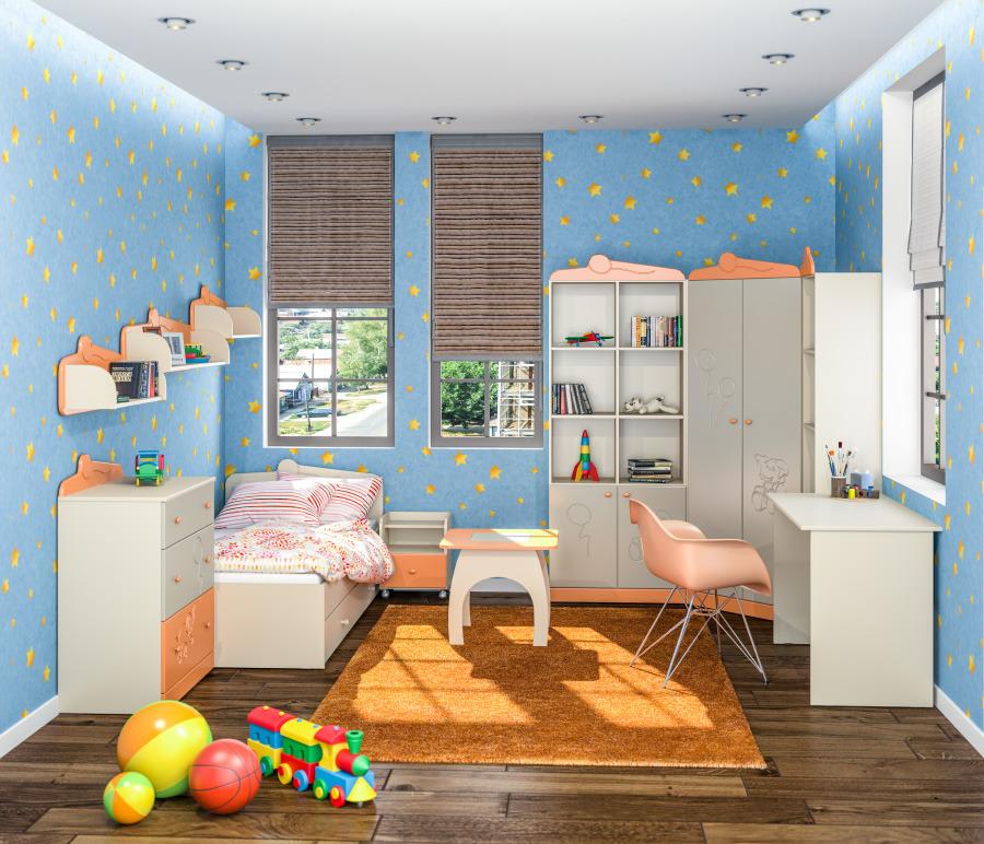 Денди Оранж комплект с кроватью и столамиДетские комнаты<br><br><br>Длина мм: 0<br>Высота мм: 0<br>Глубина мм: 0