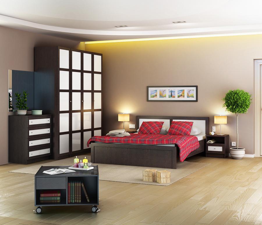 Камелия Спальня (СБ-2113 + СБ-2114 + СБ-2120) со шкафом ПалермоСпальные гарнитуры<br><br><br>Длина мм: 0<br>Высота мм: 0<br>Глубина мм: 0