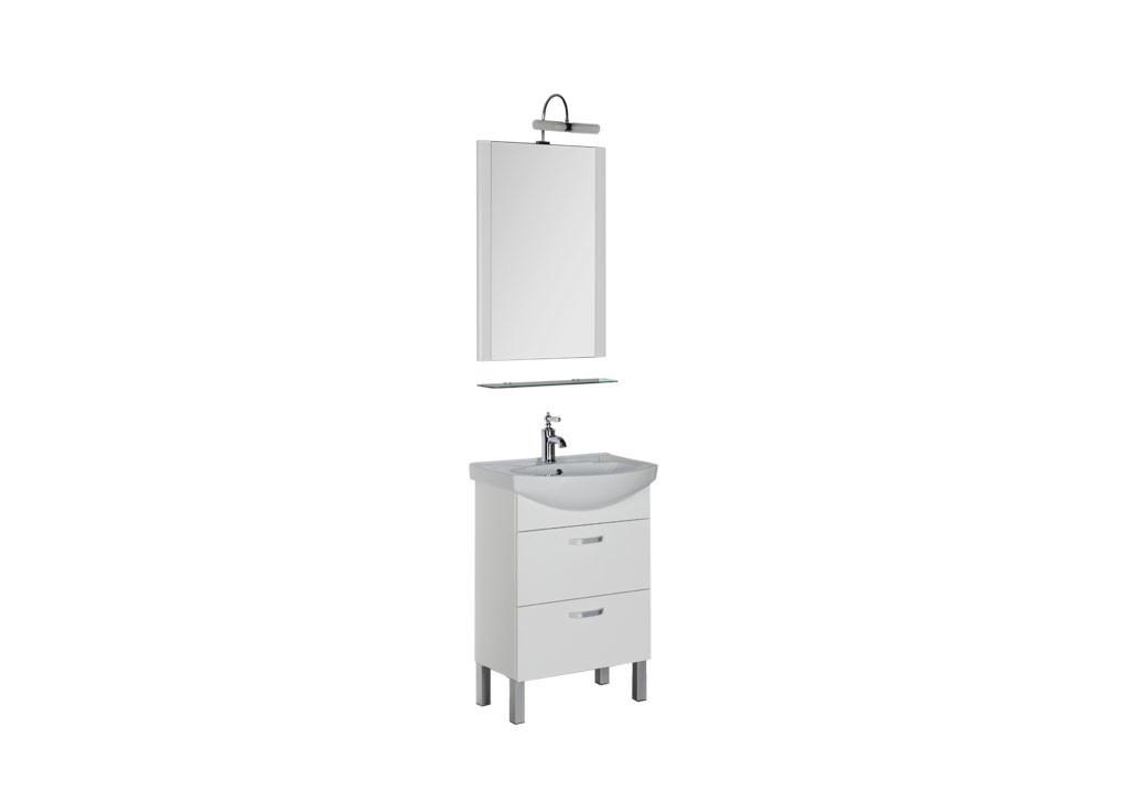 Комплект мебели Aquanet Алькона 60 белый (2 ящика)Комплекты мебели для ванной<br><br><br>Длина мм: 0<br>Высота мм: 0<br>Глубина мм: 0<br>Цвет: Белый Глянец
