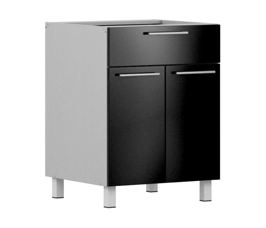 Анна АСДЯ-60 стол с ящиком и дверкамиМебель для кухни<br><br><br>Длина мм: 600<br>Высота мм: 820<br>Глубина мм: 563