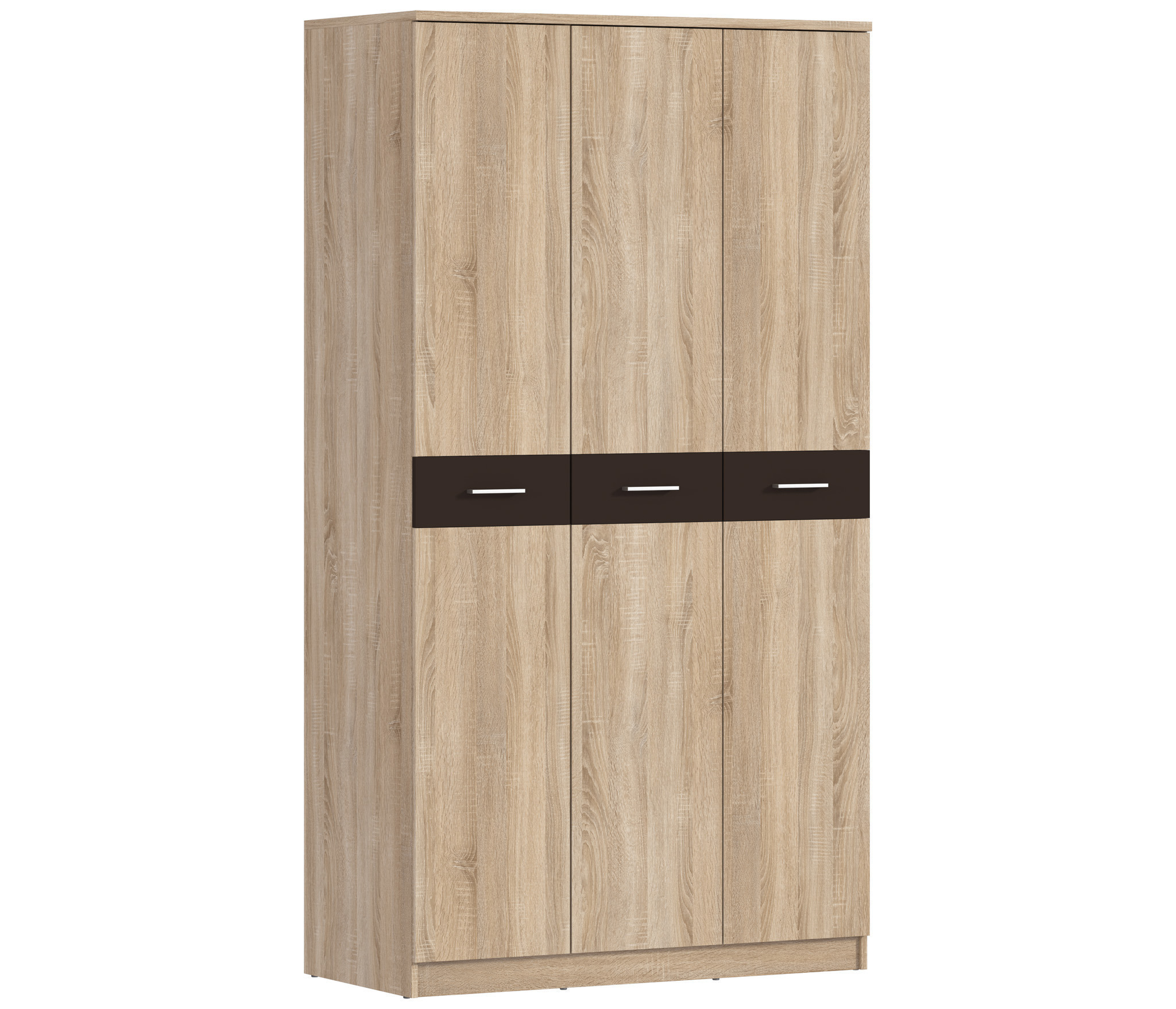 Клео СБ-2007 Шкаф 3-х дверныйШкафы<br>Трехдверный шкаф  Клео СБ-20007  отлично впишется в спальню, интерьер которой выдержан в теплых песочных тонах.<br><br>Длина мм: 1200<br>Высота мм: 2226<br>Глубина мм: 579