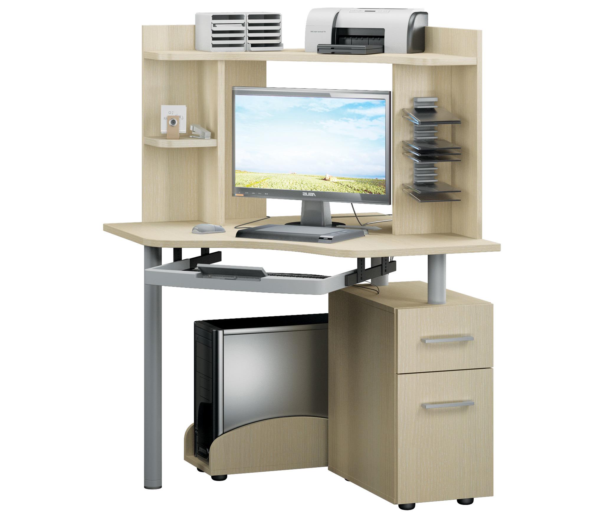 Техно компьютерный стол 900*900 Дуб Кремона угловой с выдвижной клавиатуройКомпьютерные<br>Угловой компьютерный стол  Техно  900*900 представляет собой функциональный продукт, который экономит свободное пространство.<br><br>Длина мм: 900<br>Высота мм: 1350<br>Глубина мм: 900