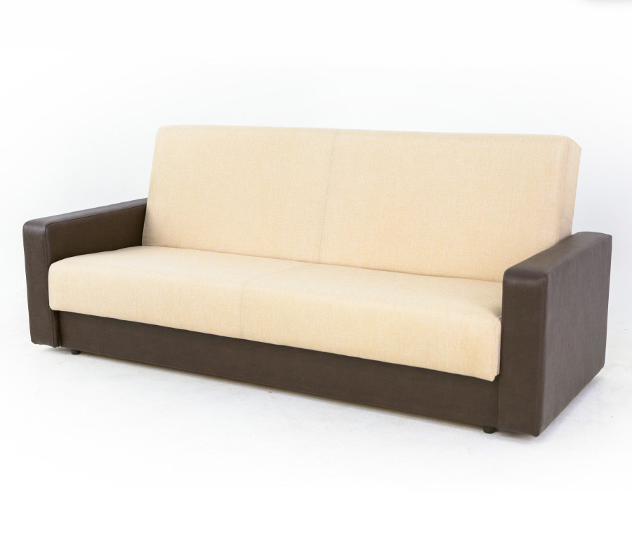 Диван Квант-к 120 (подушки в комплект не входят)Диваны и кресла<br><br><br>Длина мм: 2150<br>Высота мм: 900<br>Глубина мм: 950<br>Цвет: Темно-коричневый/ Бежевый