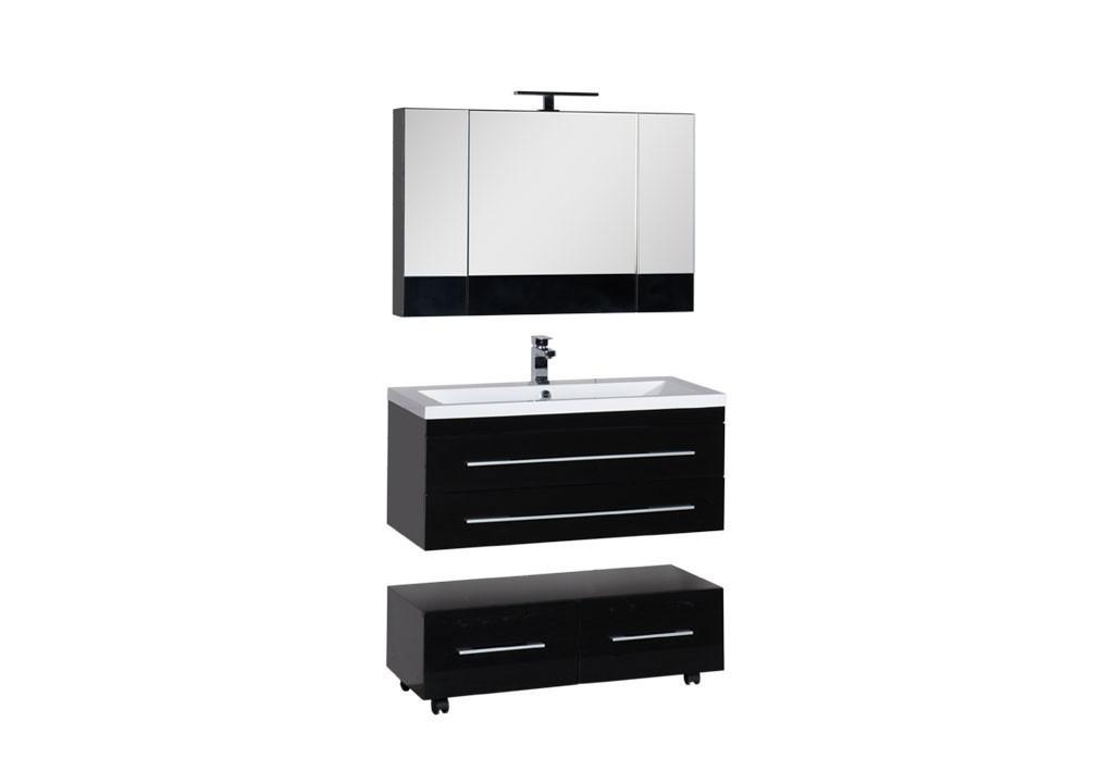 Комплект мебели Aquanet Нота 100 черный (камерино)Комплекты мебели для ванной<br><br><br>Длина мм: 0<br>Высота мм: 0<br>Глубина мм: 0<br>Цвет: Черный