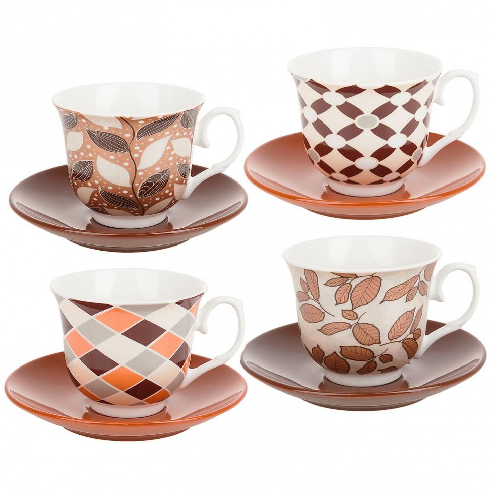 Фото - Пара чайная керамическая 250 мл Листопад ENS Group чайная пара mercury 150 мл керамика