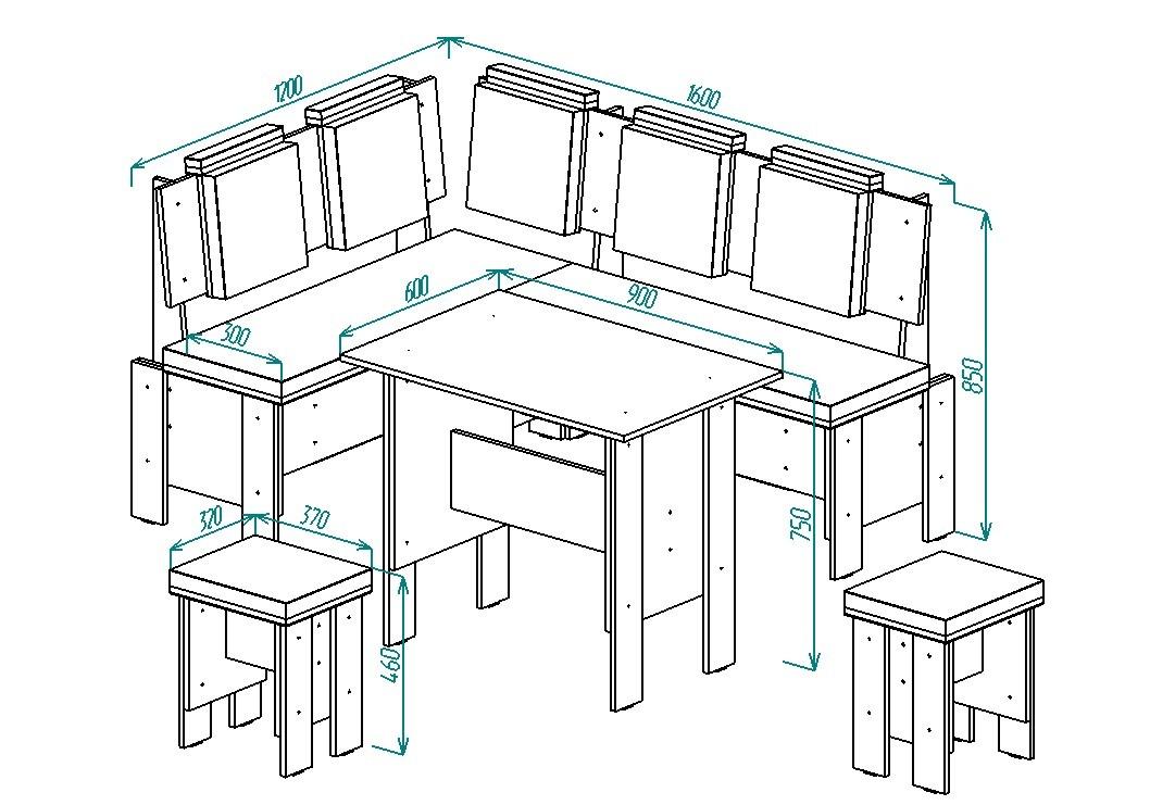 Кухонный уголок Надежда-18 от Столплит