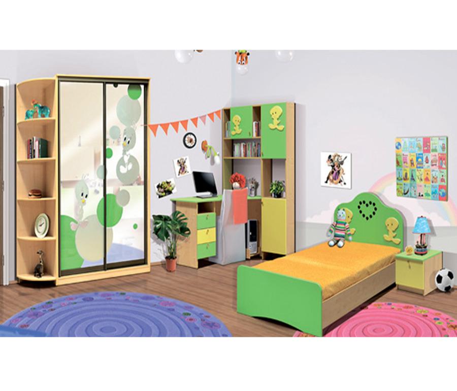 Набор мебели ЦыпленокДетские комнаты<br><br><br>Длина мм: 4190<br>Высота мм: 2120<br>Глубина мм: 610