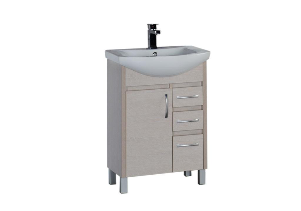 Тумба Aquanet Донна 60 (1 дверца 3 ящика)Тумбы с раковиной для ванны<br><br><br>Длина мм: 0<br>Высота мм: 0<br>Глубина мм: 0<br>Цвет: Белый дуб