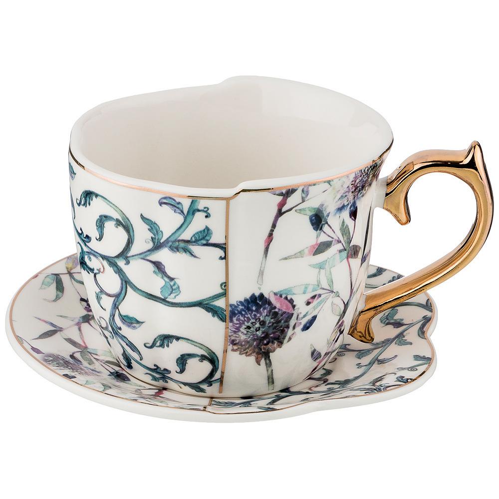 Чайный набор на 1 персону, 2 предмета 300мл. недорого