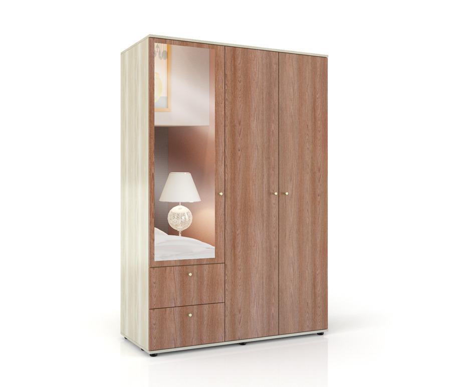 Болеро СВ-439 шкаф 3х дверныйШкафы<br><br><br>Длина мм: 1300<br>Высота мм: 1925<br>Глубина мм: 570