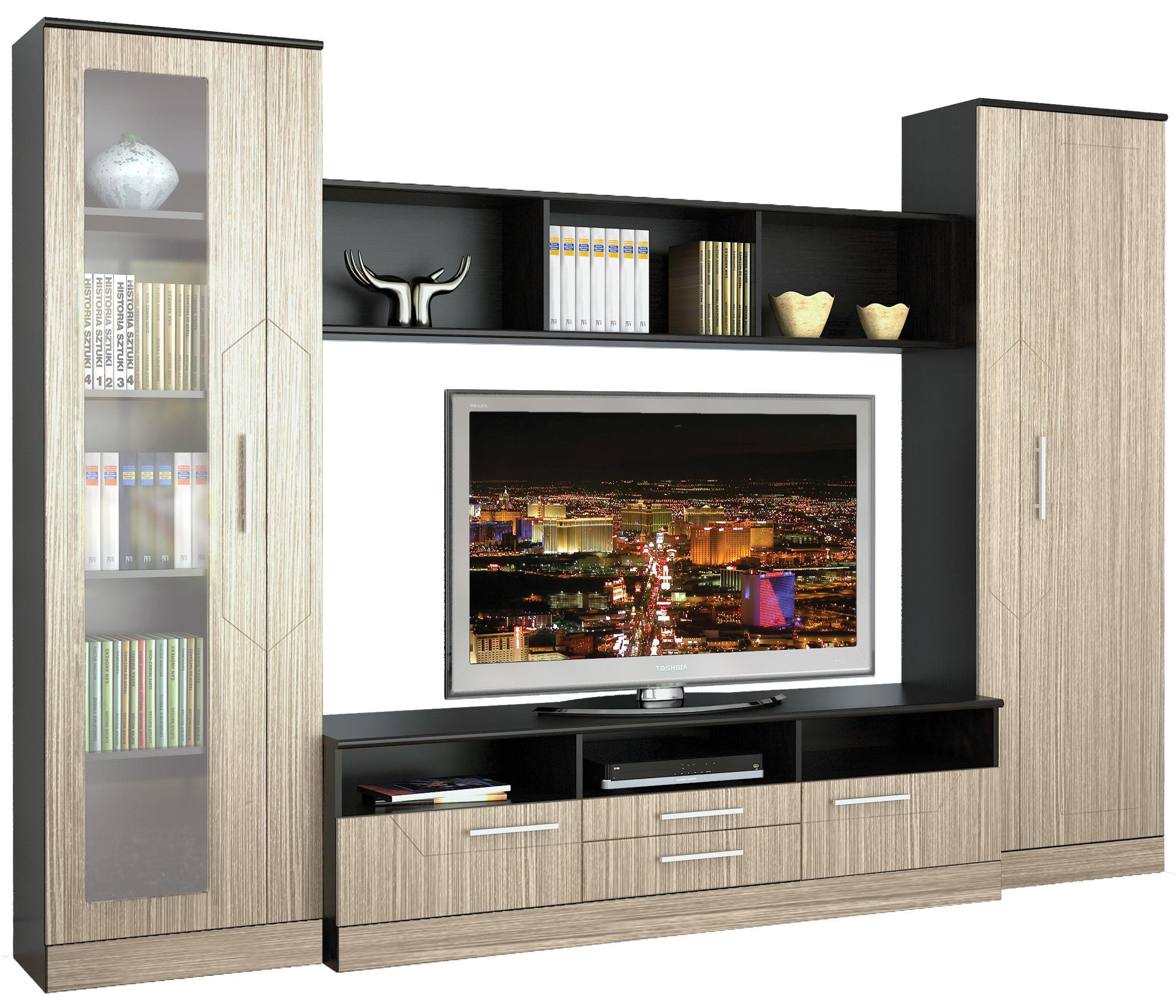 Лас-Вегас СВ-120 Стенка СветлаяСтенки для гостиной<br>Светлая стенка  Лас-Вегас СВ-120  состоит из вместительного шкафа, изящной витрины, тумбы под телевизор, оборудованной несколькими выдвижными секциями, а также из эргономичной навесной полки.<br><br>Длина мм: 3040<br>Высота мм: 2109<br>Глубина мм: 480