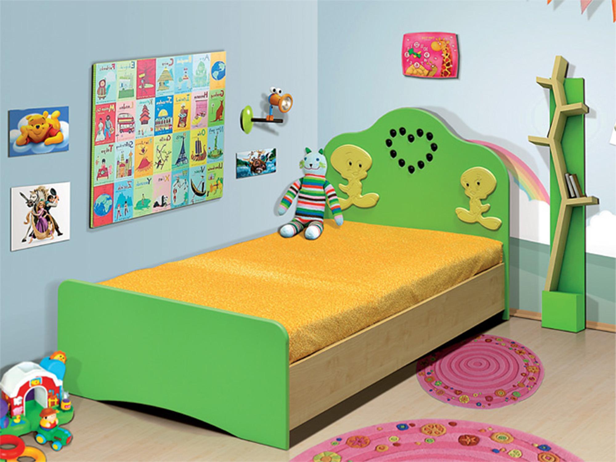Кровать ЦыпленокДетские кровати<br><br><br>Длина мм: 870<br>Высота мм: 800<br>Глубина мм: 1750
