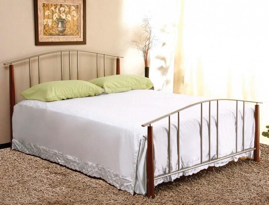 Кровать Ruan (Руан)Кровати<br><br><br>Длина мм: 1690<br>Высота мм: 970<br>Глубина мм: 2110<br>Цвет: Серебристый