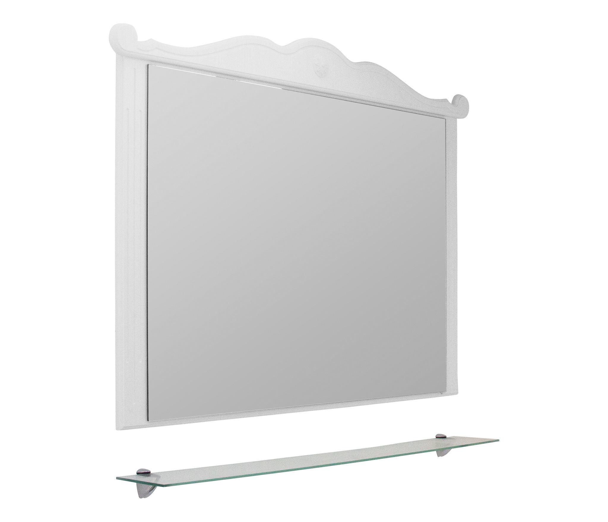 Зеркало ПРОВАНС-80 белый ясень, без подсветки (ПВХ) недорого