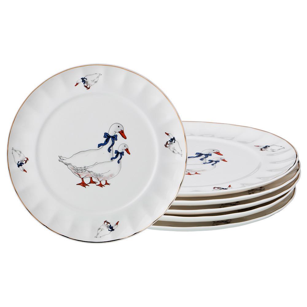 Набор тарелок Гуси 20 см
