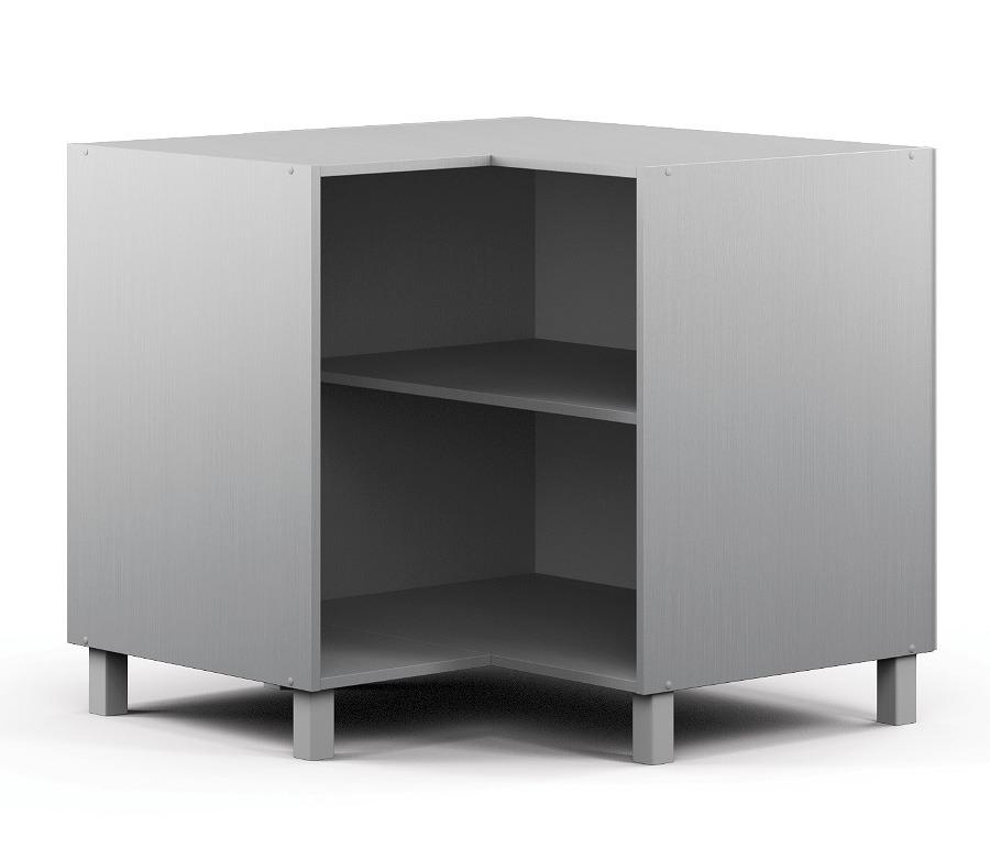Анна АСУР-90 Шкаф-Стол угловойМебель для кухни<br>Угловой шкаф в стиле хай-тек.<br><br>Длина мм: 883<br>Высота мм: 820<br>Глубина мм: 883