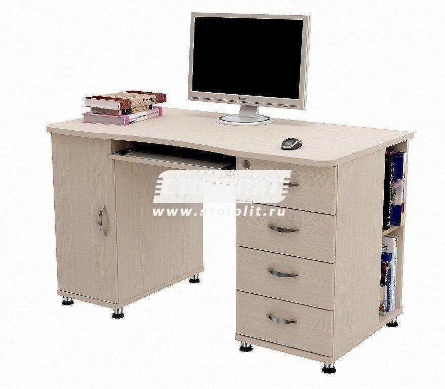 Стол компьютерный КС 2039Кабинет<br><br><br>Длина мм: 1300<br>Высота мм: 770<br>Глубина мм: 700
