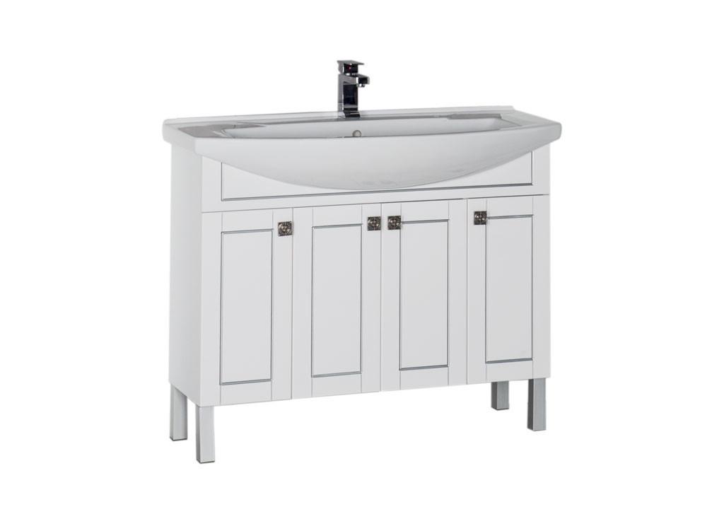 Тумба Aquanet Честер 105 белыйТумбы с раковиной для ванны<br><br><br>Длина мм: 0<br>Высота мм: 0<br>Глубина мм: 0<br>Цвет: Белый Глянец