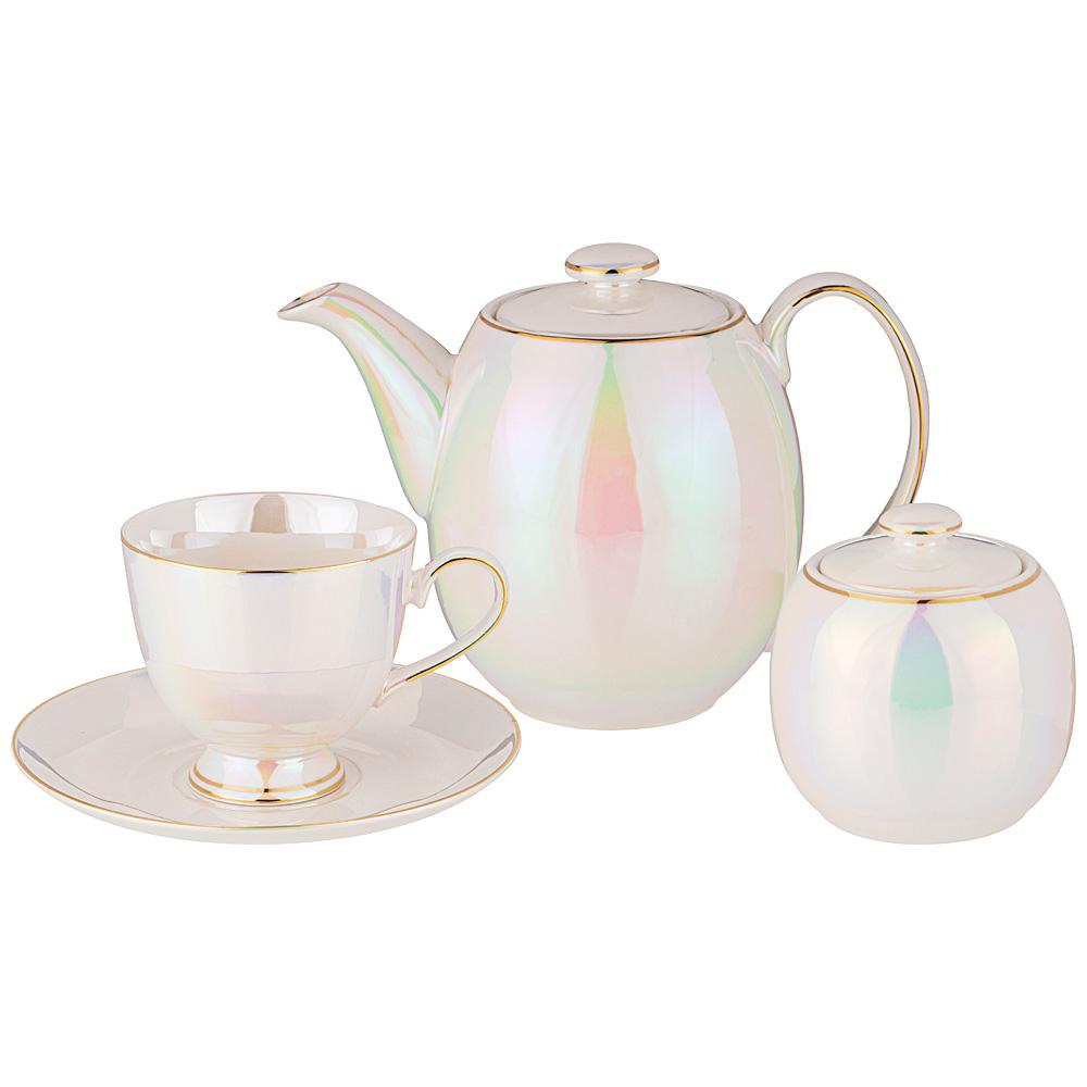 Чайный сервиз Pearl 190 мл сервиз чайный фарфоровый на 6 персон 220 мл royal classics 14 предметов