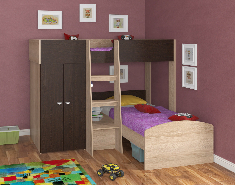 Набор мебели Golden Kids 4 кдКровати двухъярусные<br><br><br>Длина мм: 2058<br>Высота мм: 1555<br>Глубина мм: 2058