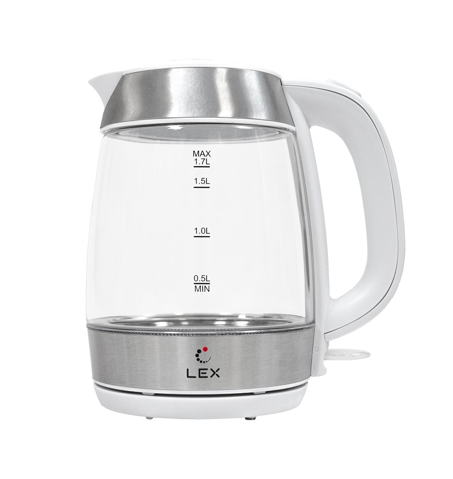 Чайник электрический LEX LX-3001-2 (белый)