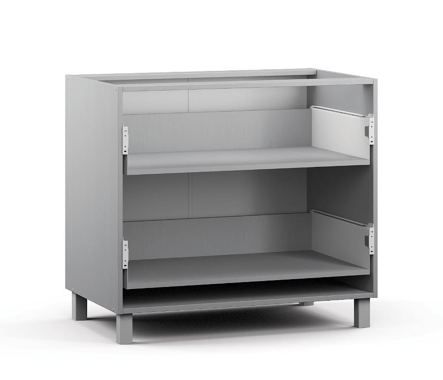 Анна АСЯ-90 Шкаф-Стол с 2-мя ящикамиМебель для кухни<br>Современный шкаф для кухни.<br><br>Длина мм: 900<br>Высота мм: 820<br>Глубина мм: 563