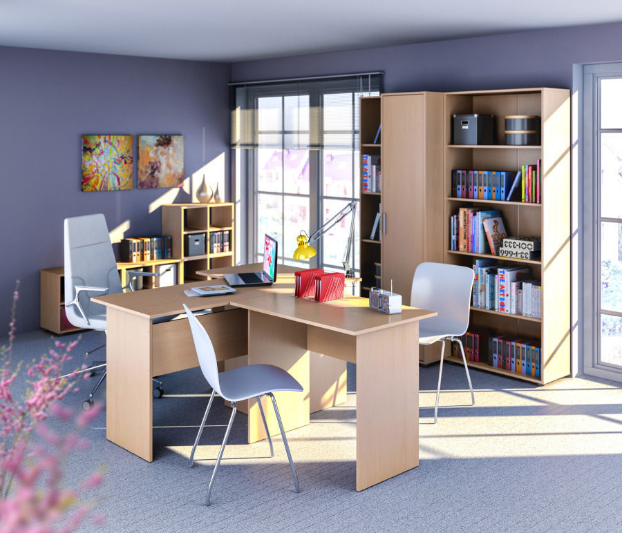Кабинет Ника (офис 1)Домашние кабинеты<br><br><br>Длина мм: 0<br>Высота мм: 0<br>Глубина мм: 0