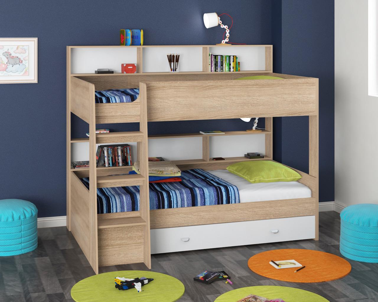 Набор мебели Golden Kids 1 кдКровати двухъярусные<br><br><br>Длина мм: 1830<br>Высота мм: 1400<br>Глубина мм: 2075