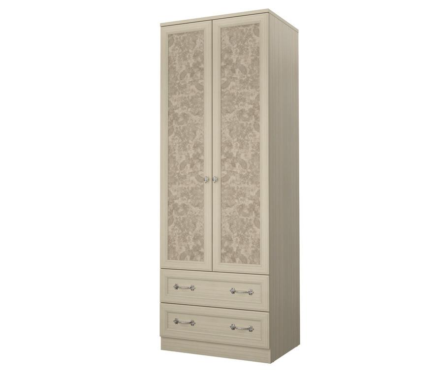 Дженни СТЛ.127.03 Шкаф 2-х дверный с 2-мя ящикамиШкафы<br>Мебель должна быть изготовлена из качественного и безопасного материала, не иметь запахов и производственных следов.&#13;•Мебель должна быть безопасна, крепежи надежно скрыты, а детали тщательно обработаны.&#13;•Мебель должна быть долговечна, поверхность устойчива к внешним воздействиям и повышенным нагрузкам.&#13;Но и по мимо этих важных критериев, мы учитываем пожелания наших маленьких клиентов и производим функциональную и красивую мебель. Платяной шкаф  Денни  станет истинным украшением любой детской комнаты. Рамочные фасады с нежным природным рисунком наполнят комнату теплом и заботой.&#13;]]&gt;<br><br>Длина мм: 792<br>Высота мм: 2222<br>Глубина мм: 596