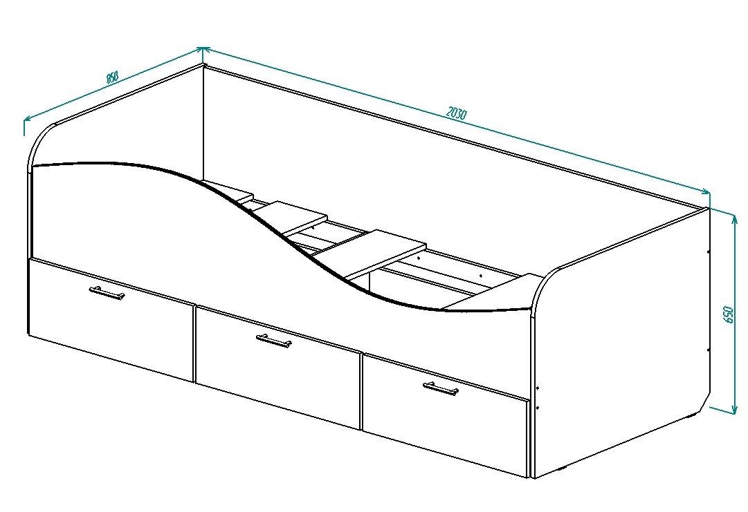 Кровать для детской КР-3 от Столплит