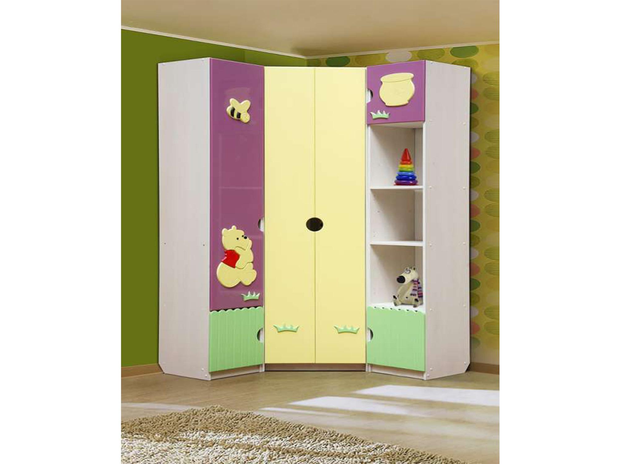 Шкаф угловой Медвежонок 1Угловые шкафы<br><br><br>Длина мм: 0<br>Высота мм: 2200<br>Глубина мм: 450