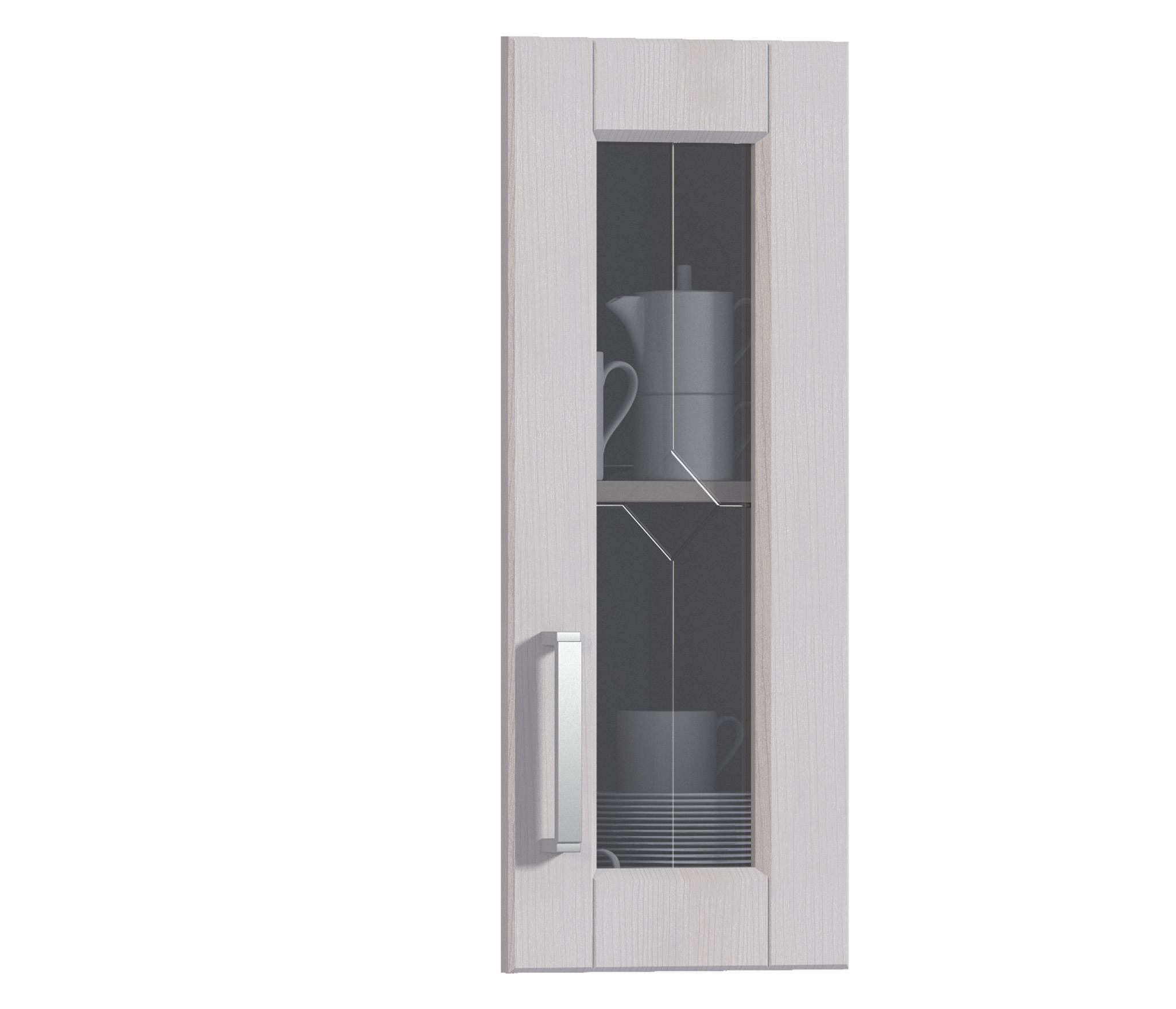 Фасад Регина ФВ-30 к корпусу РП-30, РП-60Мебель для кухни<br>Компактная застекленная дверца для кухонного шкафа.<br><br>Длина мм: 296<br>Высота мм: 713<br>Глубина мм: 22