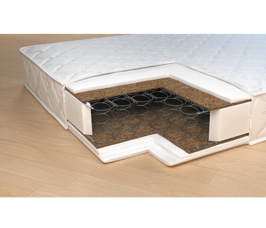 Матрас Классик-Стандарт 1600*2000Мебель для спальни<br>Классический матрас на основе пружинного блока Боннель с настилом из натуральной кокосовой плиты и высокопрочного пенополиуретана. Изготовлен из гипоаллергенных материалов. Эластично скрепленные волокна кокоса оптимально распределяют нагрузку, обеспечивая оптимальный уровень жесткости и поддержки. Эта модель, по отзывам наших клиентов, хорошо переносит перепад температуры и подходит для использования не только в квартире, но и на даче. Модель рекомендована тем, кто предпочитает средний уровень жесткости . Рекомендовано использование вместе с защитным чехлом Aquastop.&#13;Периметр: усилен ППУ&#13;Высота: 19&#13;Основа: Блок Боннель 117 пружин/ м2&#13;Чехол: Чехол - высокопрочный жакард итальянской компании Stellini, который состоит на 60% из хлопка; стеганный на синтепоне со спанбондом &#13;Наполнитель: ППУ, латексированная кокосовая койра&#13;Нагрузка: 100<br><br>Длина мм: 1600<br>Высота мм: 200<br>Глубина мм: 2000<br>Длина матраса: 2000<br>Ширина матраса: 1600<br>Высота матраса: 200<br>Жесткость матраса: Средняя<br>Тип матраса: пружинный блок бонель