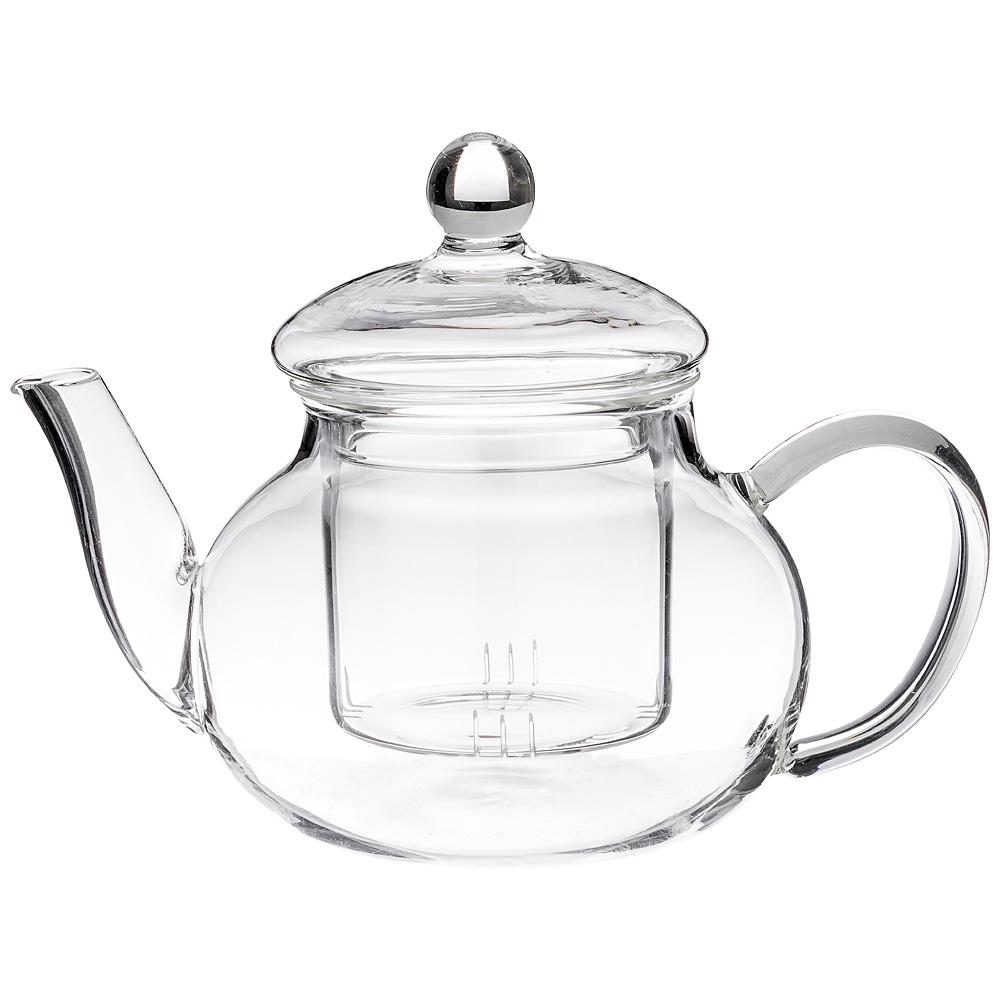 Чайник заварочный agness со стеклянным фильтром 600 мл