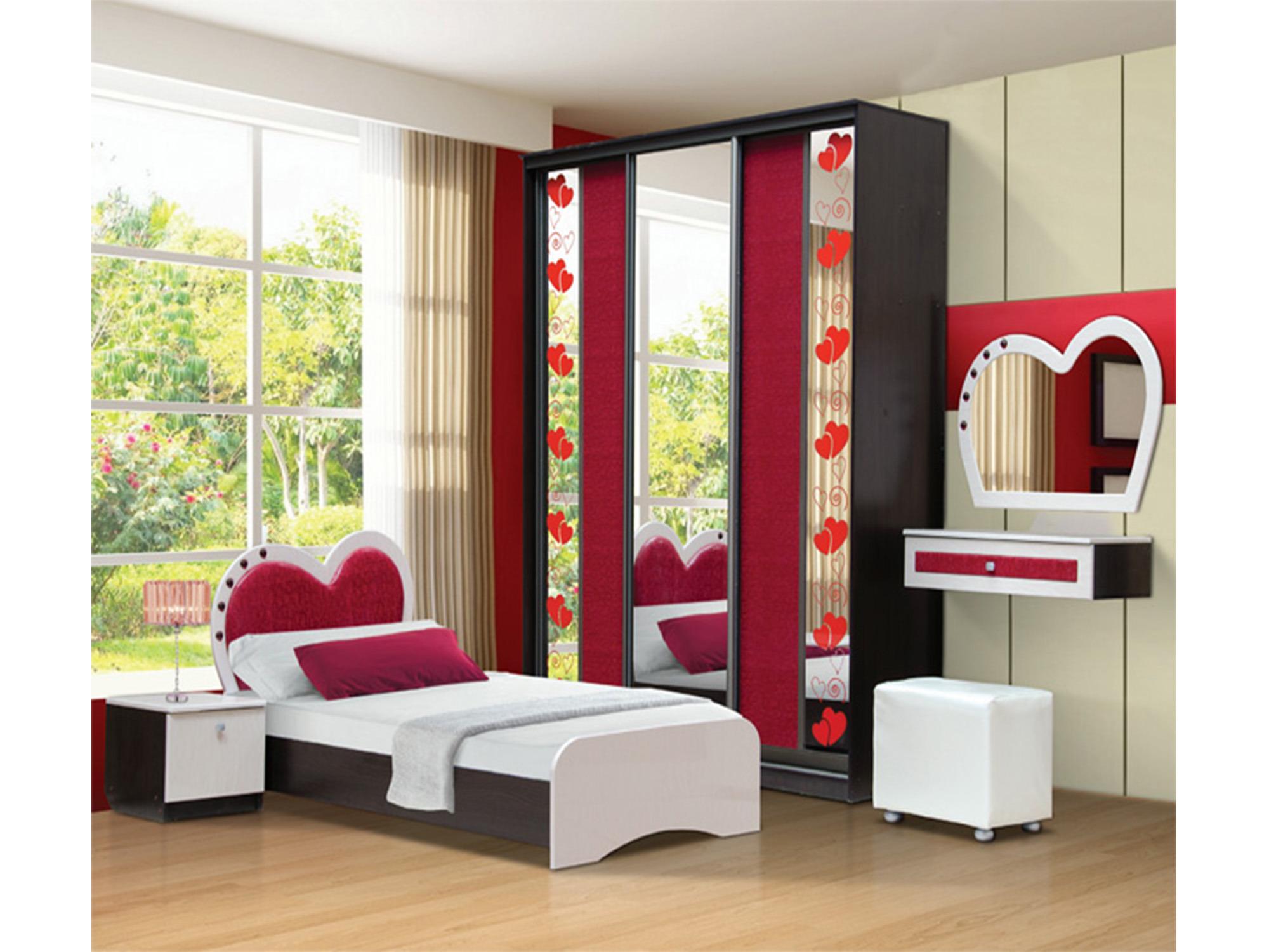 Спальный набор Кокетка-1Детские комнаты<br><br><br>Длина мм: 4795<br>Высота мм: 2350<br>Глубина мм: 1950