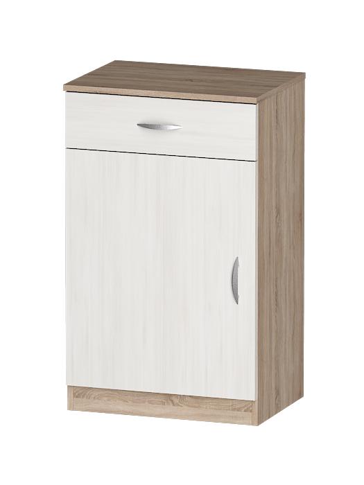 Тумба Лайф 55*40*90 (ящик+дверь) Дуб сонома шкафы в гостиную корпусные