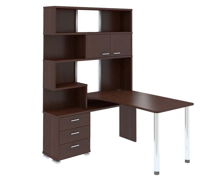 Стол компьютерный с надстройкой СР-420/130Компьютерные столы<br><br><br>Длина мм: 1300<br>Высота мм: 1992<br>Глубина мм: 1300