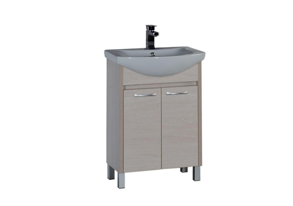 Тумба Aquanet Донна 60  (2 дверцы)Тумбы с раковиной для ванны<br><br><br>Длина мм: 0<br>Высота мм: 0<br>Глубина мм: 0<br>Цвет: Белый дуб