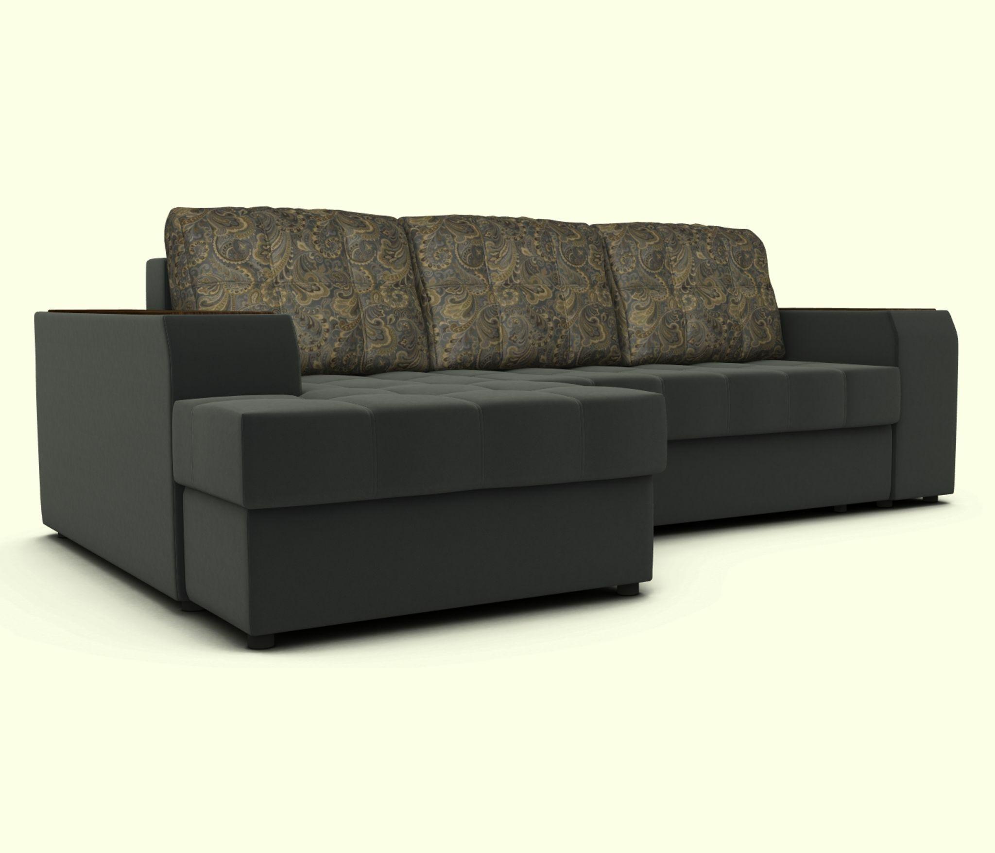 Угловой диван ЭДИНБУРГ с оттоманкой левый Столплит R0000248524
